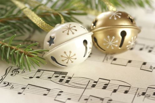 5 Christmas sheet music with bells